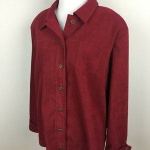 Draper's & Damon's Jacket Size XL Brick Red Maroon